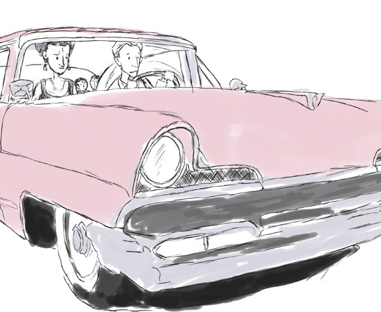 56′ Pink Lincoln